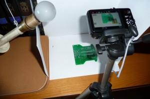 Fotografiando la placa del robot