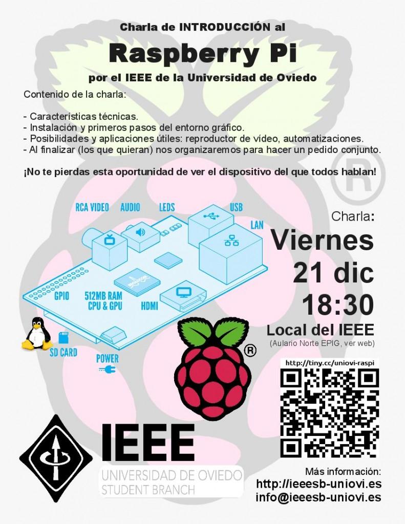 Cartel Charla Raspberry Pi