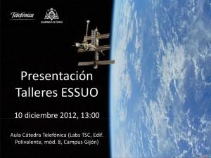 cartel de la presentación de los talleres ESSUO