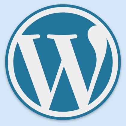 W del logotipo de WordPress