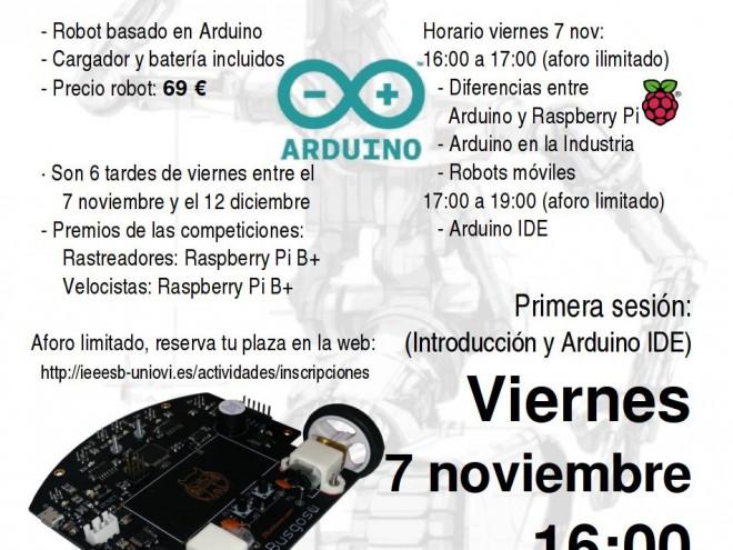 Cartel talleres robotica 2014