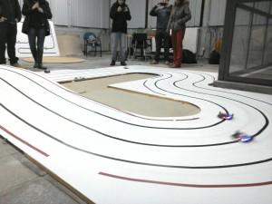 Foto de una pista de robots velocistas